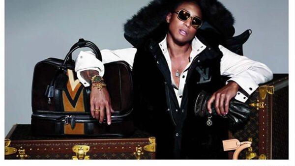 Pharell Williams es otro de los músicos que forman parte de las personalidades de la firma francesa.