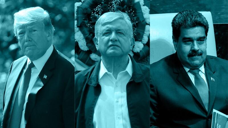Trump, Maduro y AMLO