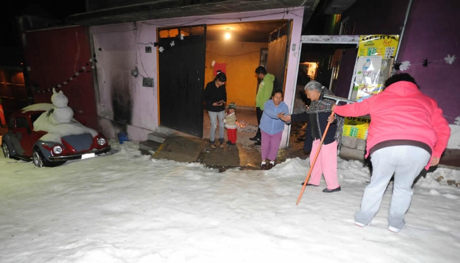 Cuajimalpa afectados granizo