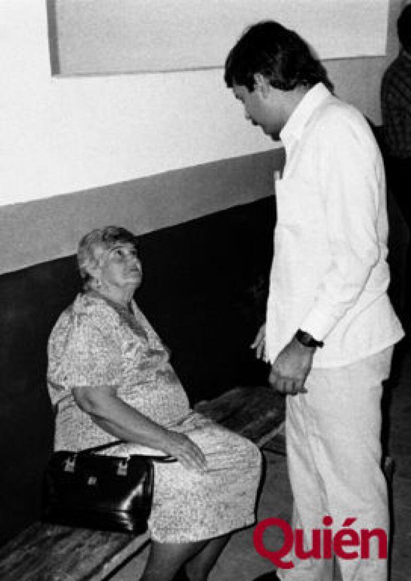 Andrés Manuel López Obrador, su mamá