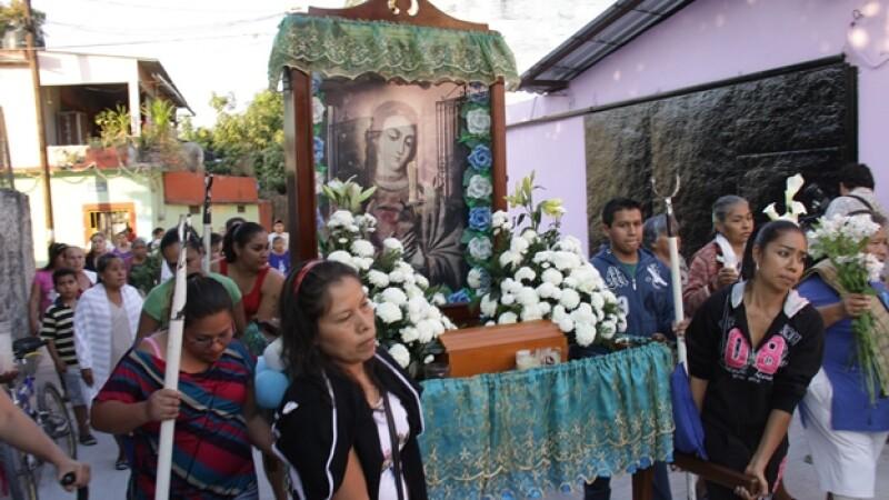 procesion dedicada a edgar tamayo, mexicano ejecutado en estados unidos