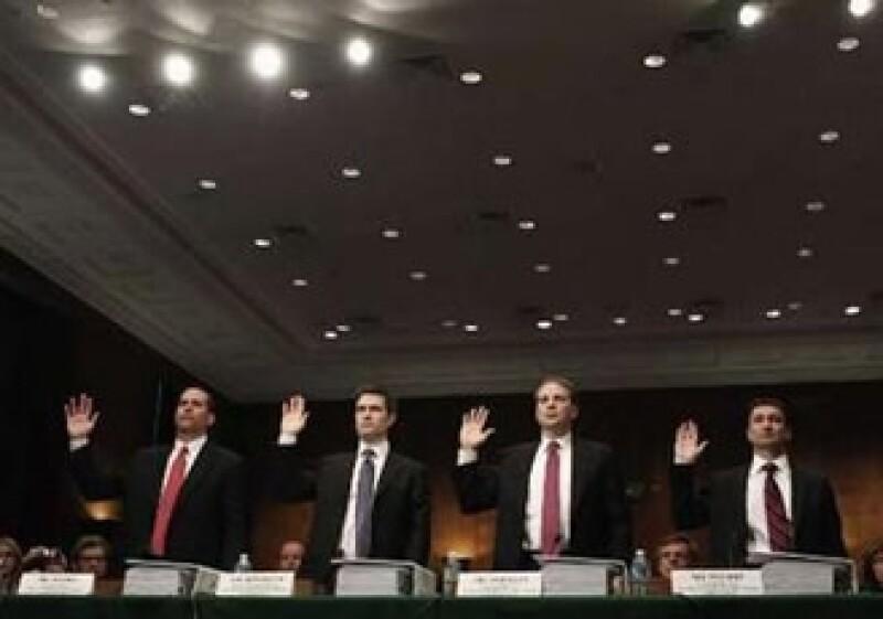 7 ejecutivos de Goldman Sachs (actuales y anteriores), testificaron el martes pasado ante el Senado de EU. (Foto: Reuters)