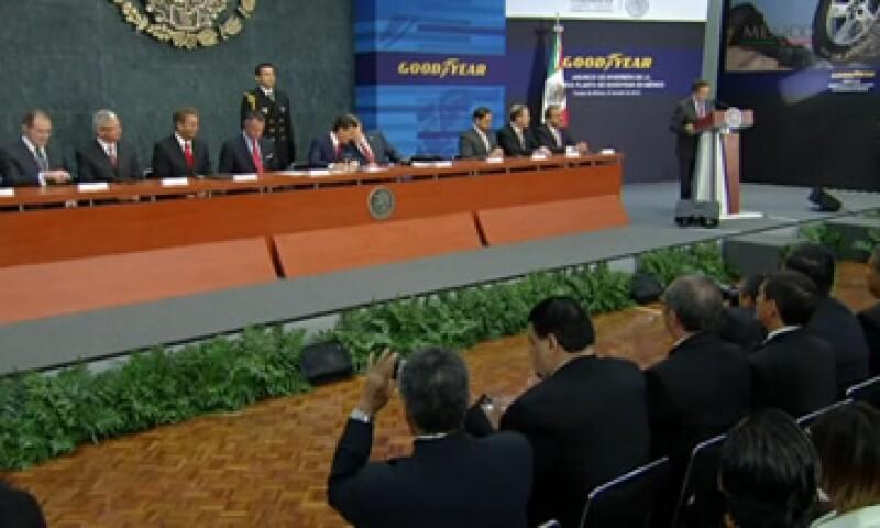 Las autoridades dieron la bienvenida a la inversión de la compañía multinacional. (Foto: Tomada de presidencia.gob.mx)