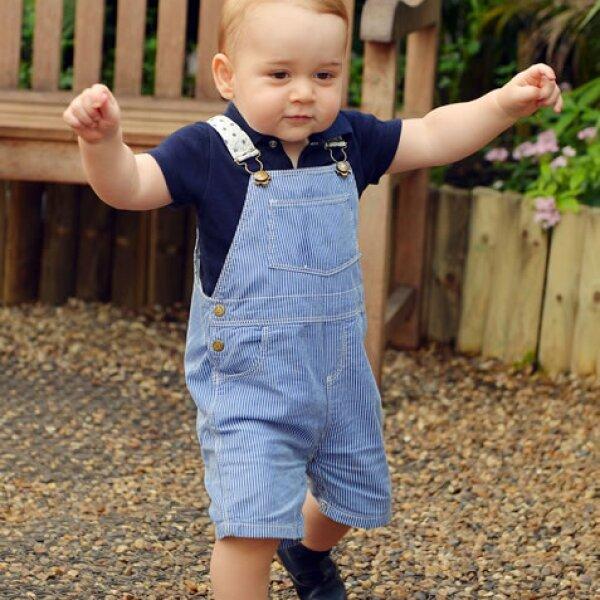Indudablemente, el estilo del príncipe George es tradicional.