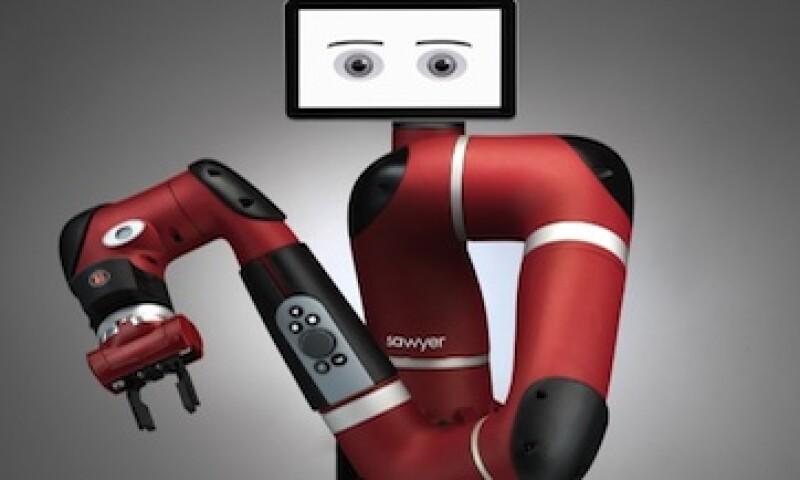Sawyer, el robot ensamblador, tiene un valor de 29,000 dólares (Foto: Cortesía Rethink Robots para CNNMoney)