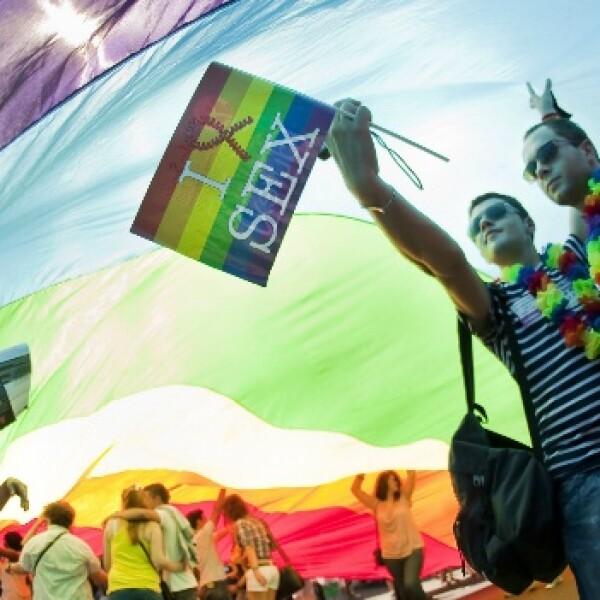 desfile, marcha, derechos, gay