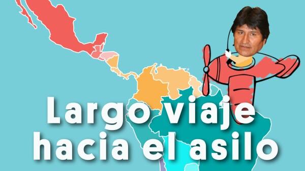 Así fue el largo viaje de Evo Morales hacia México | #Clip 🎬