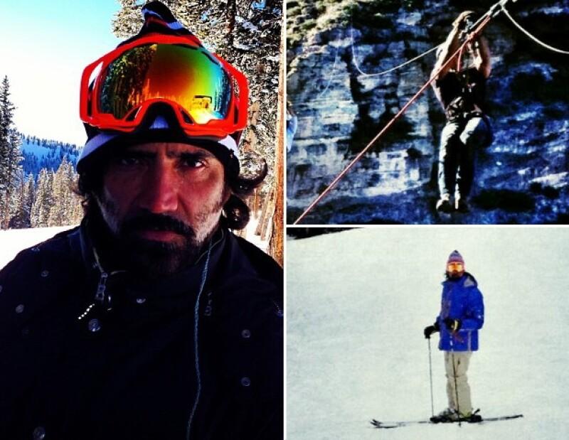 El potrillo ama su motocicleta, pero también esquía en nieve o se arroja de la tirolesa, es un hombre muy valiente y aventurero.