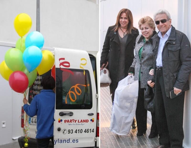Desde temprano, una camioneta llegó a la casa de Shakira y Piqué para entregar la decoración.