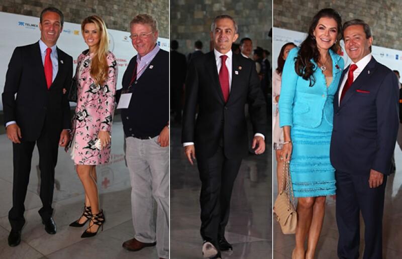 Carlos Slim Domit, María Elena Torruco, Carlos Alazraki, Miguel Ángel Mancera, Mariana Tort y Carlos Peralta.