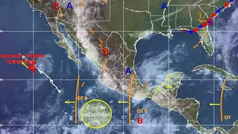 mapa clima 5 de julio