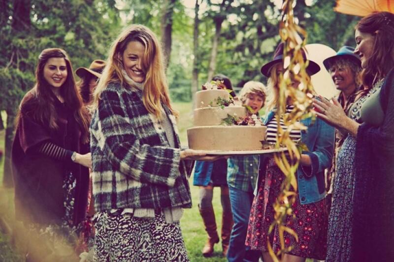 Blake y compañía disfrutaron de un rústico y alegre baby shower en el campo.