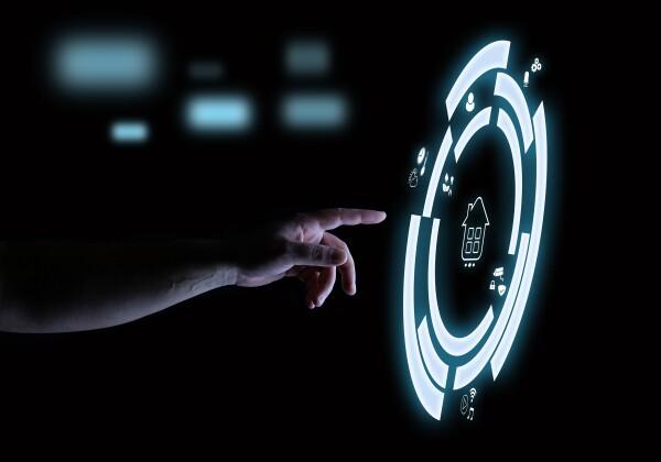 Smart Home Digital Touch Hologram User Interface Technology Concept