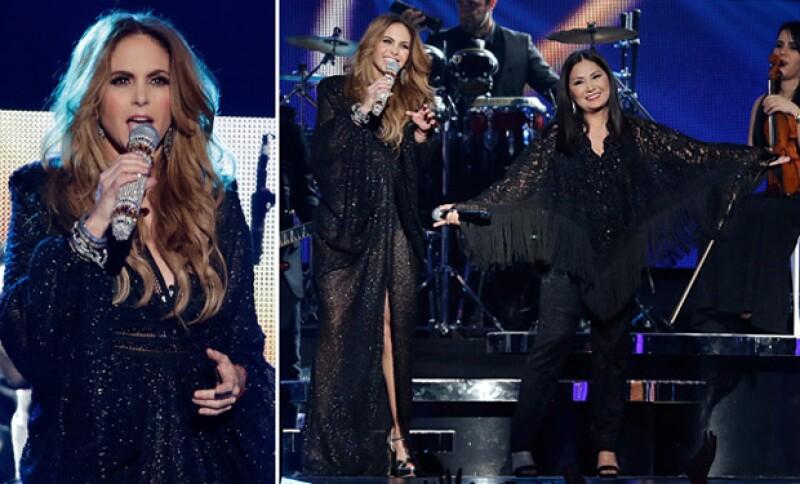 Durante su presentación en los Billboard 2015, la artista cantó al lado de Ana Gabriel.