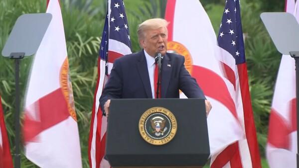 Trump recorre EEUU con la promesa de una vacuna y una recuperación económica