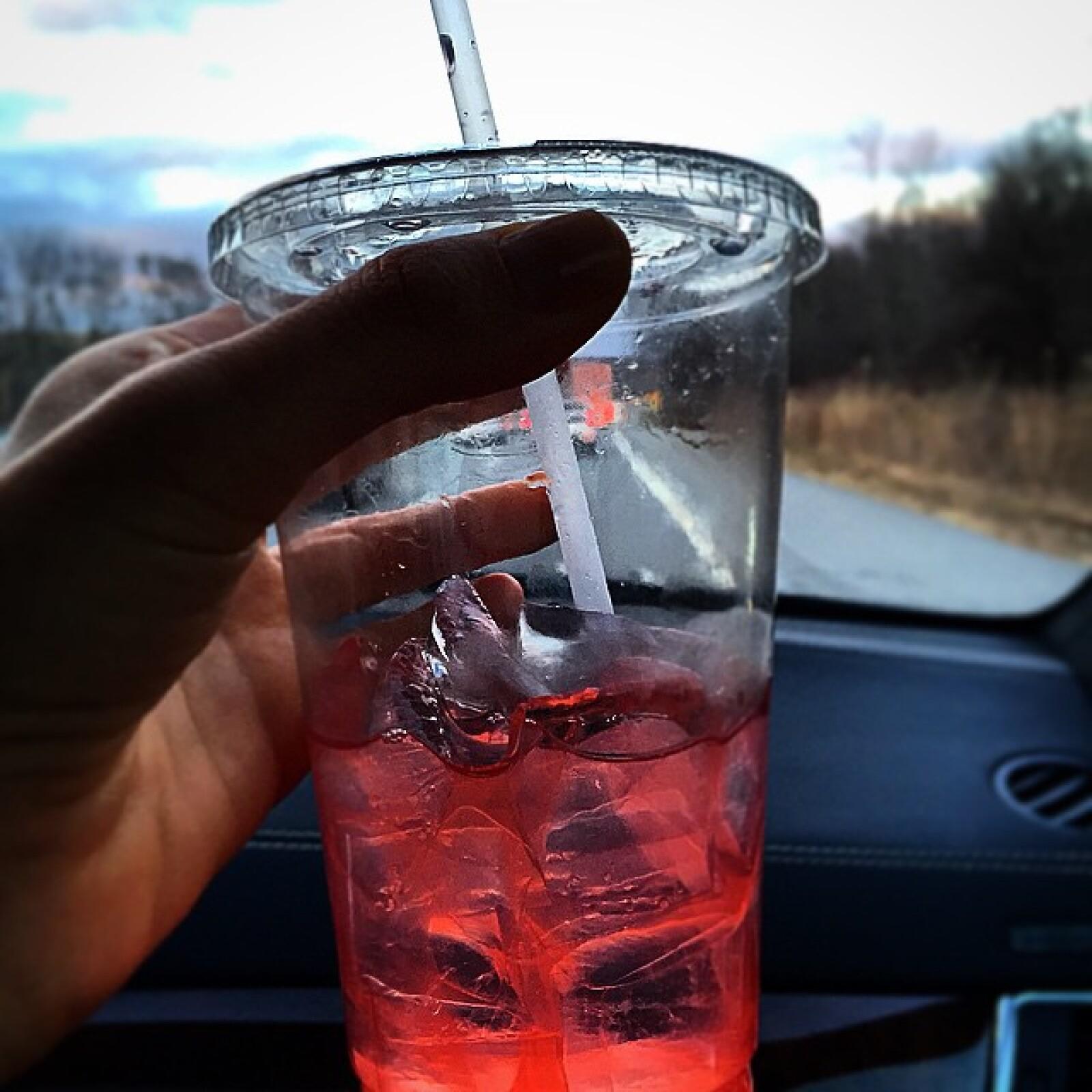 Una limonada rosa le da el toque fresco al día neoyorquino.