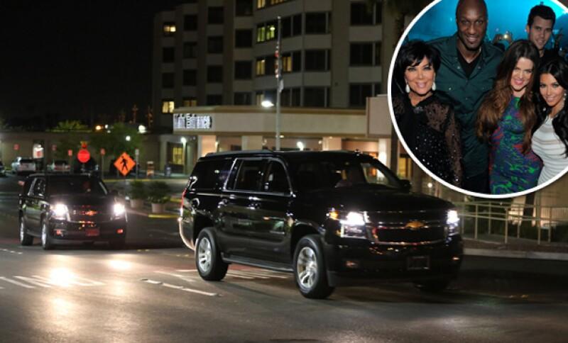 Estas son las camionetas en las que presuntamente las Kardashian llegaron al hospital para estar al lado de Lamar.