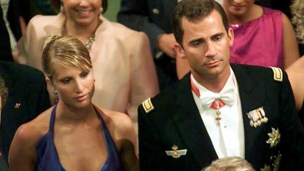 Eva Sannum y el entonces príncipe Felipe