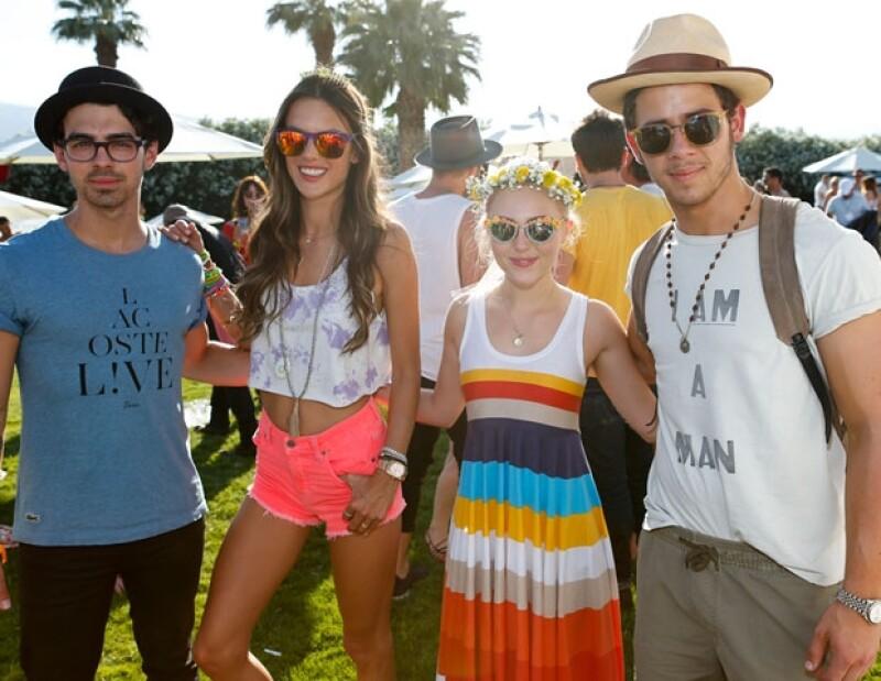 Joe Jonas, Alessandra Ambrosio, AnnaSophia Robb Nick Jonas en la edición 2013 del festival.