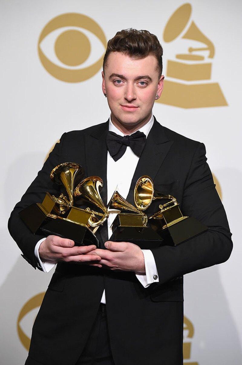 """El cantante británico ganó cuatro de las seis categorías en las que estaba nominado, incluyendo """"Grabación del Año""""."""