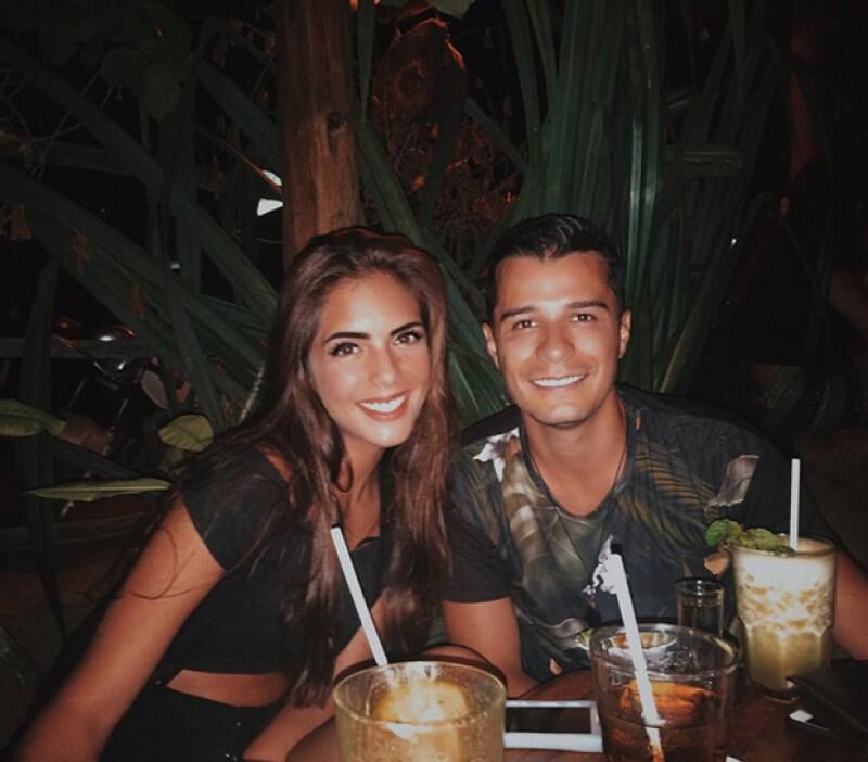 María Levy con su novio Diego Carrión.