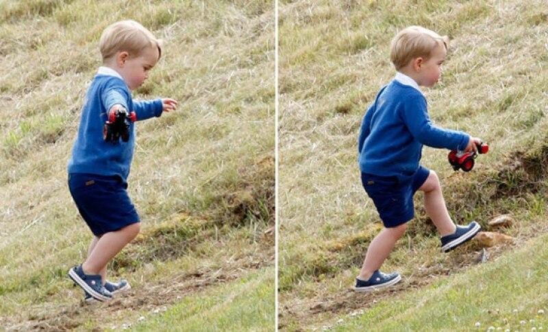 """Tras ser captado jugando en una pequeña ladera durante un partido de polo, el hijo de Kate Middleton nuevamente volvió a causar el """"Toque de Midas"""" con su outfit."""