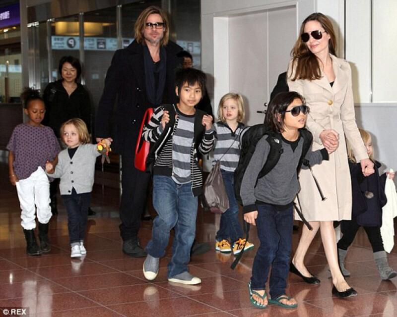 La familia en uno de sus viajes juntos.