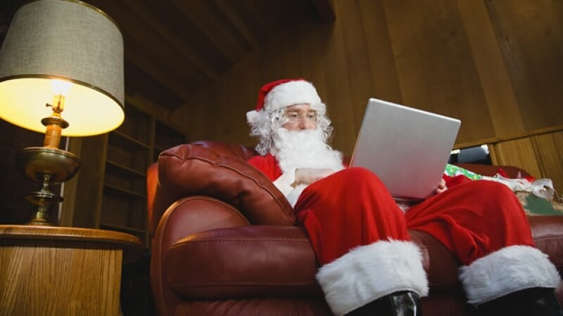 navidad computadora Santa