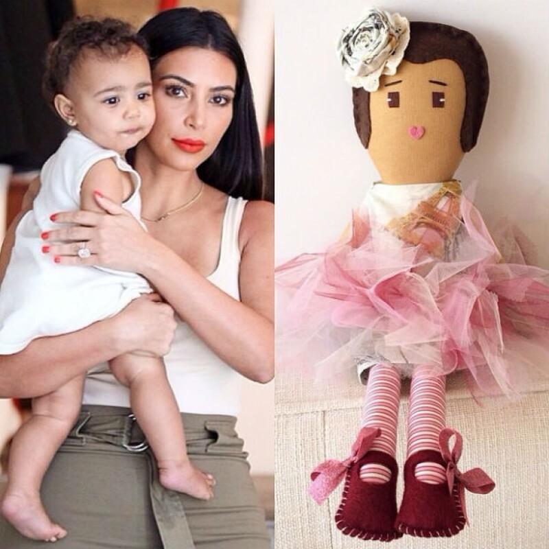 La diseñadora de las muñecas compartió el diseño inspirado en North West.