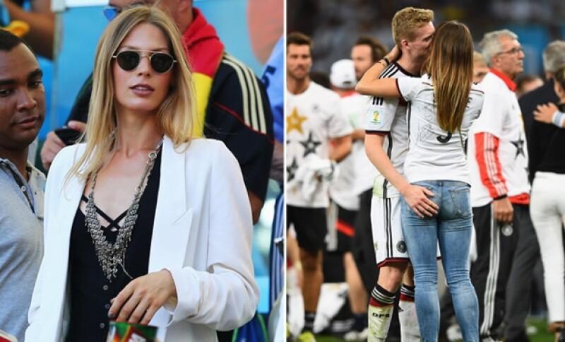 La novia de Bastian Schweinsteiger y en la siguiente imagen Andre Schuerrle más que cariñoso con su novia.