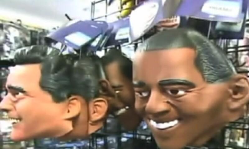 Las máscaras de los políticos son un imán para los compradores en los negocios.  (Foto: tomada de CNN)