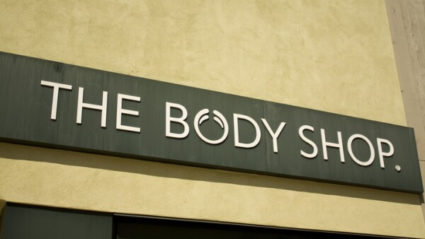 The body shop signage