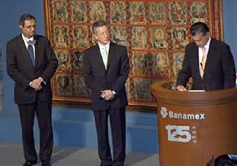 Vikram Pandit participó en la inauguración de una muestra por los 125 años de Banamex. (Foto: Cortesía)