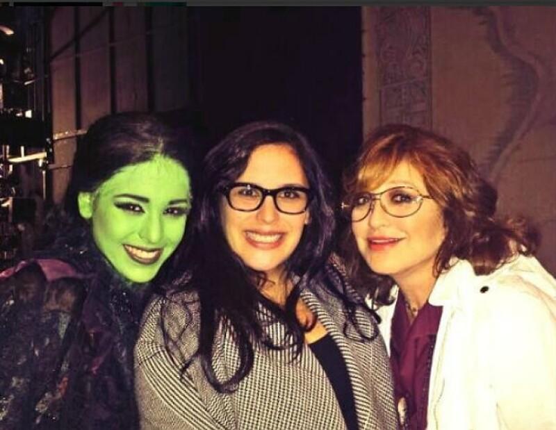 """Angélica Vale y Angélica María asistieron a la función de """"Wicked"""" del pasado miércoles."""