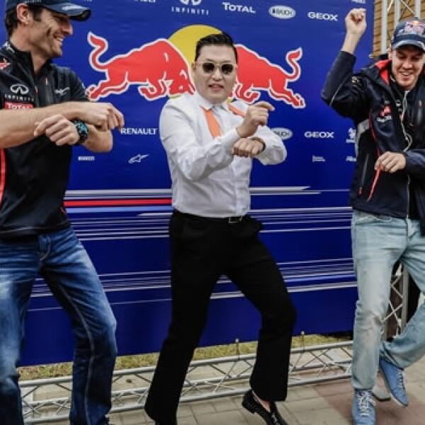 Sebastian Vettel celebra su victoria en el GP de Corea