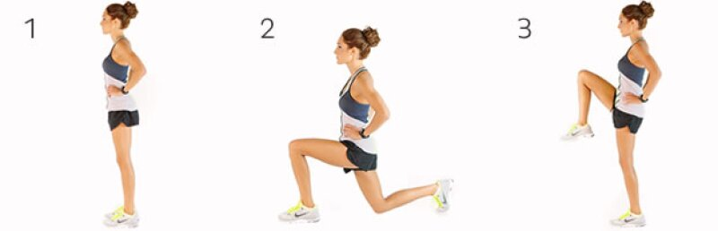 Reverse Lunge and Knee Lift