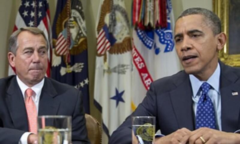 El líder de la Cámara de Representantes John Boehner y el presidente Barack Obama se reunirán este jueves para discutir sobre el abismo fiscal. (Foto: Getty Images)