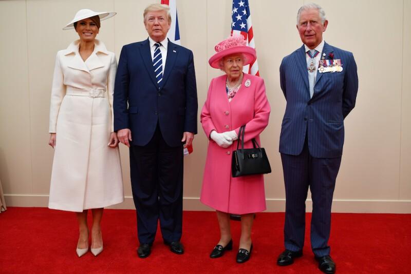 Donald Trump durante su visita presidencial a Gran Bretaña.
