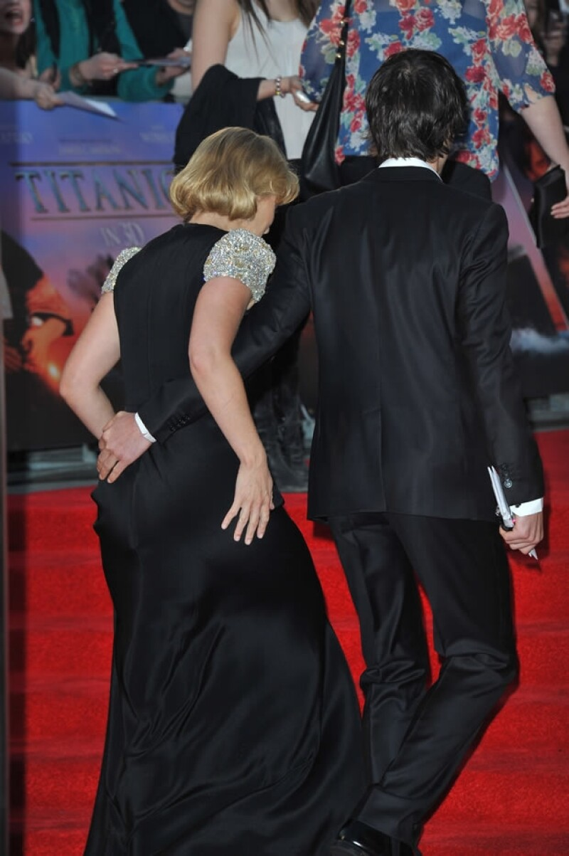 Kate y Ned en la premiere de Titanic 3D.