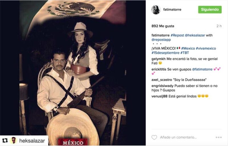 Fátima Torres se unió a la lista de las celebs que festejan an México.