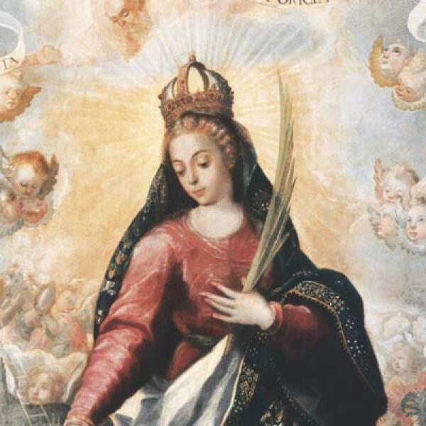 Autor: Maestro de San Ildefonso. Material: Oleo sobre tela. Tamaño: 241 x 170 cm. Origen: Col. Particular Ciudad de México.