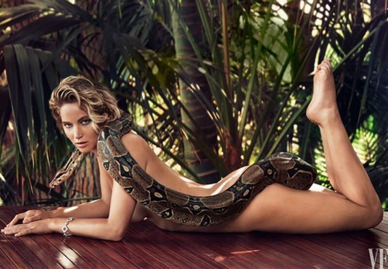Así de sensual luce la actriz Jennifer Lawrence para la próxima publicación de Vanity Fair.
