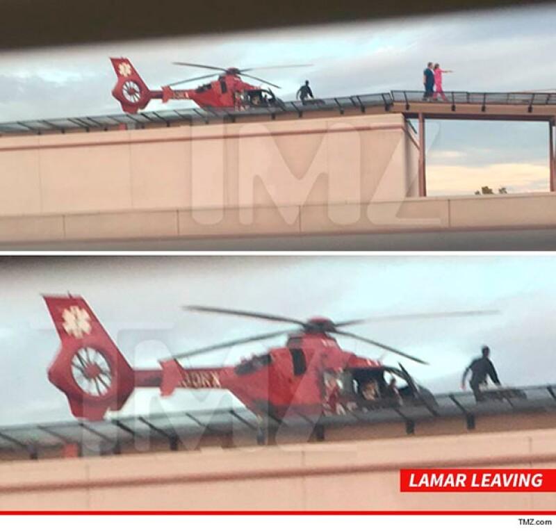 El portal TMZ reveló estas imágenes del traslado de Lamar Odom a Los Ángeles, donde continuará con su recuperación.