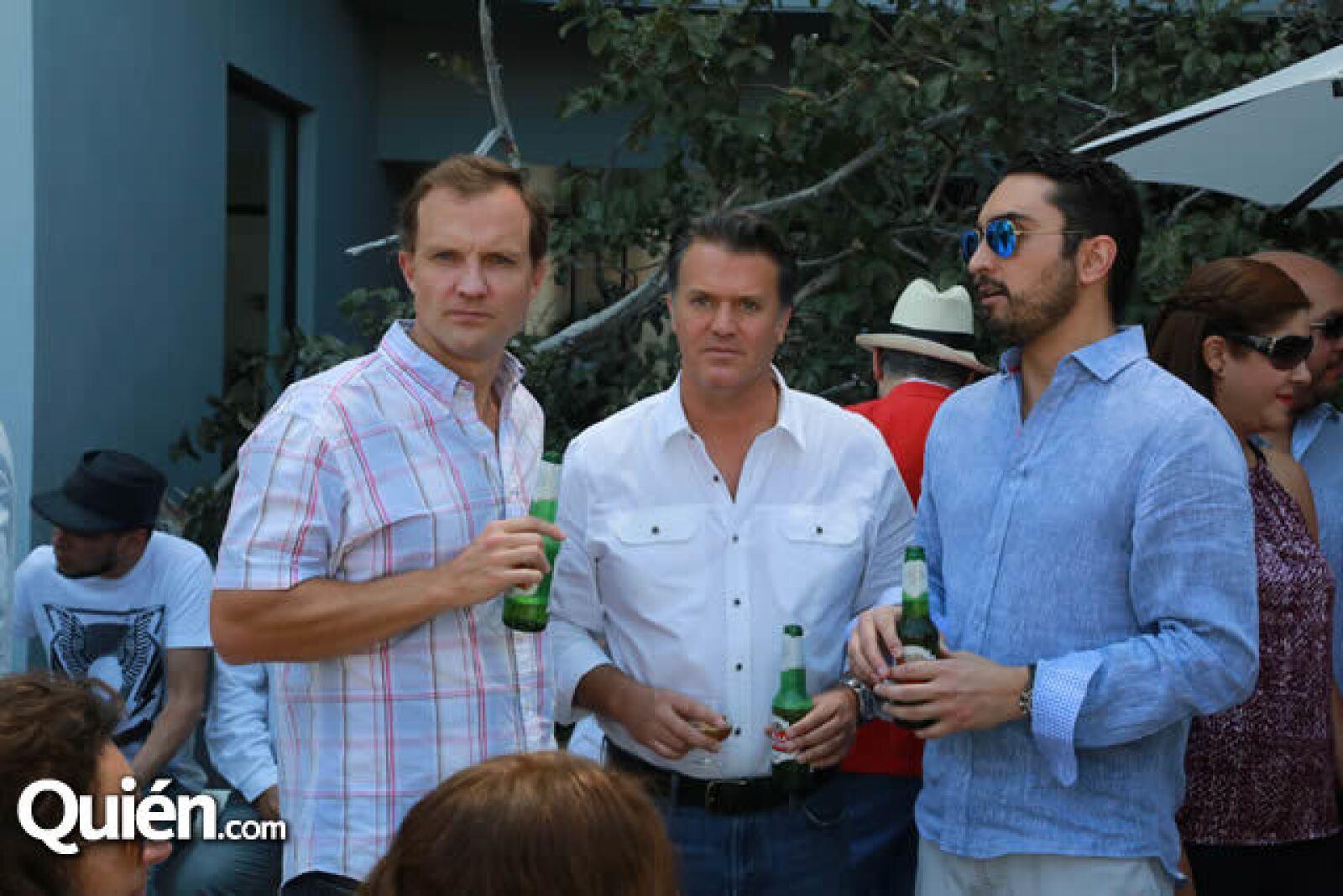 Carlos Romero,Enrique Gavica y Tomas Lange