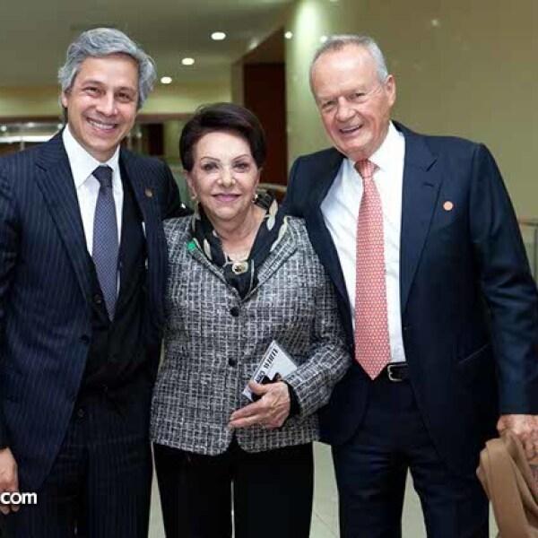 Claudio X. González,Tere Huajardo y Roberto Hernández