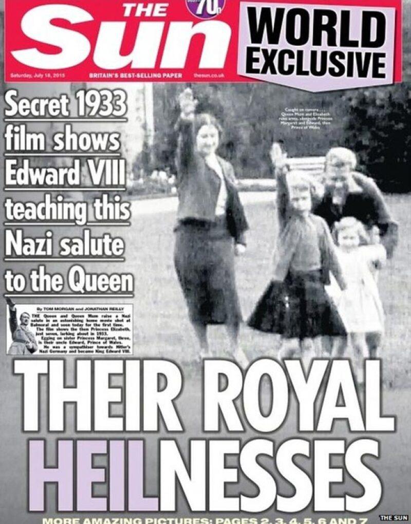 Un video de 82 años de antigüedad revela a Isabel II, su mamá, hermana y tío haciendo el famoso saludo a Hitler.