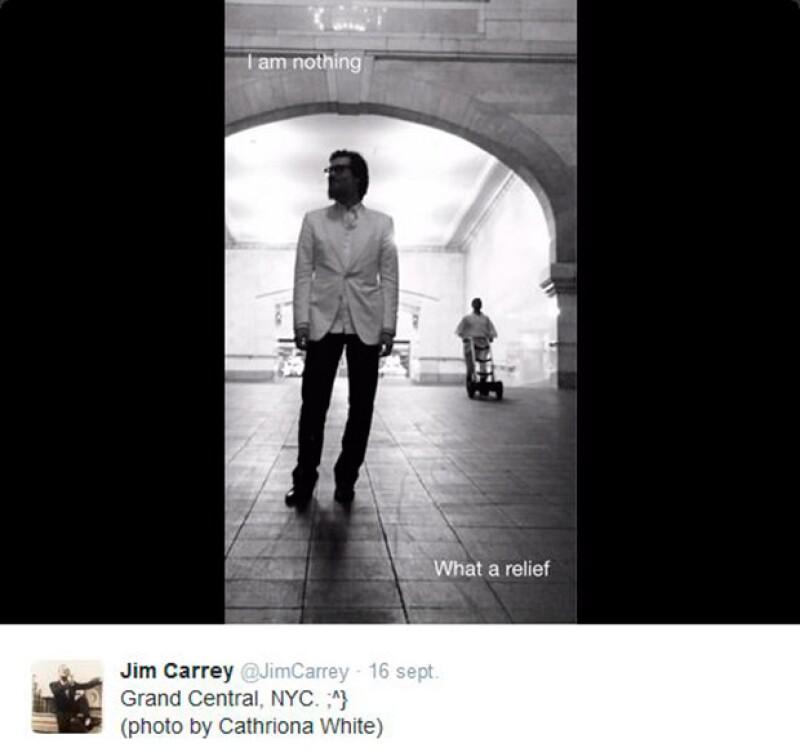 Jim daba el crédito a su novia en al fotografías que publicaba en la red social.