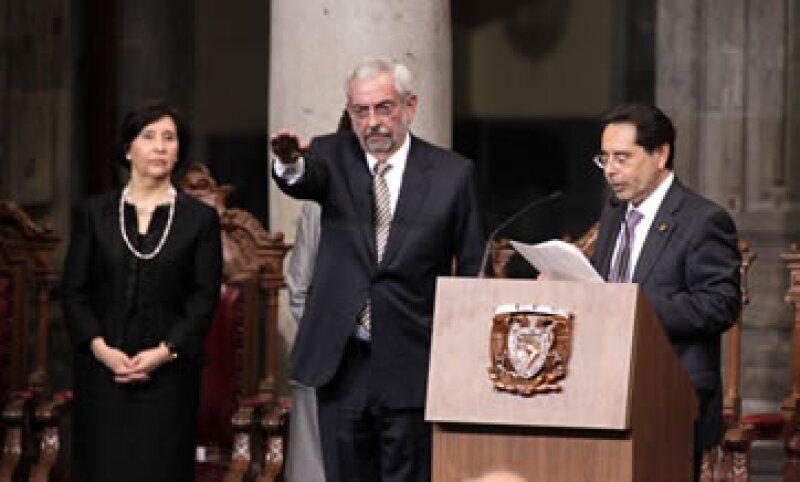 Graue será rector hasta el 16 de noviembre de 2019. (Foto: Notimex)