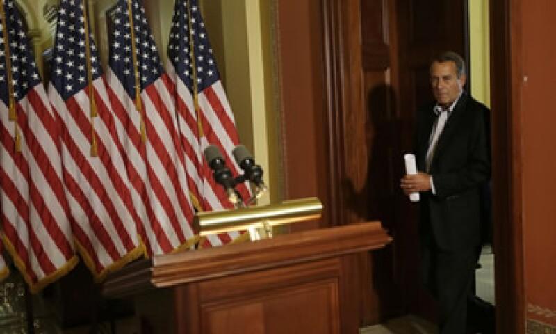 Boehner dijo que una llamada telefónica entre él y Obama, y nuevas conversaciones entre sus respectivos equipos el jueves, no lograron avances. (Foto: AP)