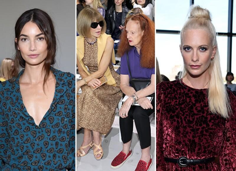 Lily Aldridge, Anna Wintour con Grace Coddington y Poppy Delevingne estuvieron presentes.